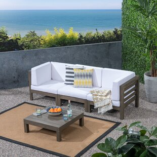 Seaham 9 Piece Teak Sofa Seating Group with Cushions by Brayden Studio