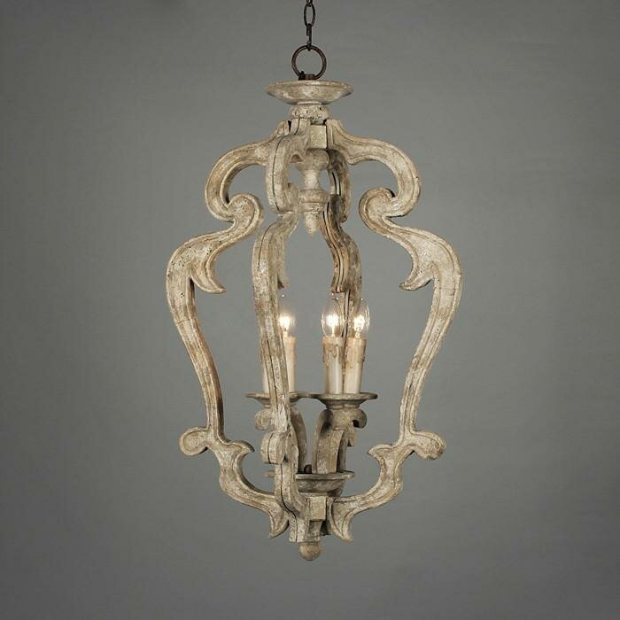 Armour Wood 3-Light Foyer Pendant