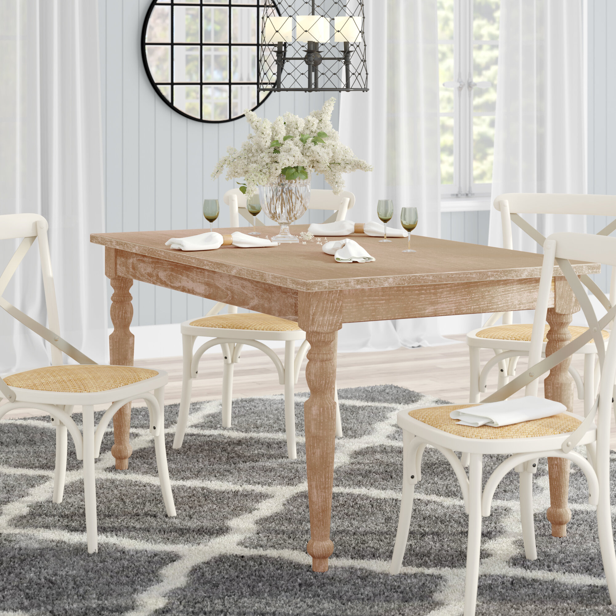 Distressed Finish Rustic Farmhouse Kitchen Dining Tables You Ll Love In 2021 Wayfair