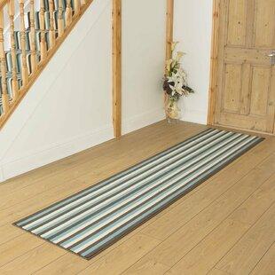 Barile Tufted Blue Hallway Runner Rug Image