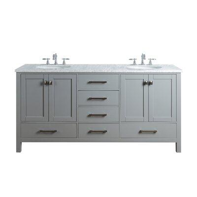 Darby Home Co Bowlin 72 Double Sink Bathroom Vanity Set