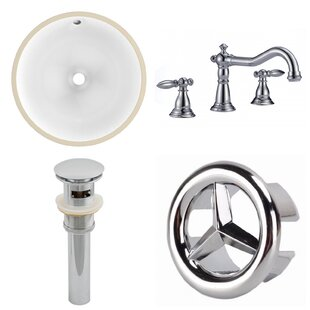 Big Save CUPC Ceramic Circular Undermount Bathroom Sink with Faucet and Overflow ByAmerican Imaginations
