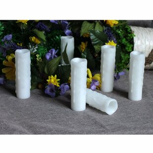 LED Flickering Unscented Pillar Wax Candle (Set of 4)