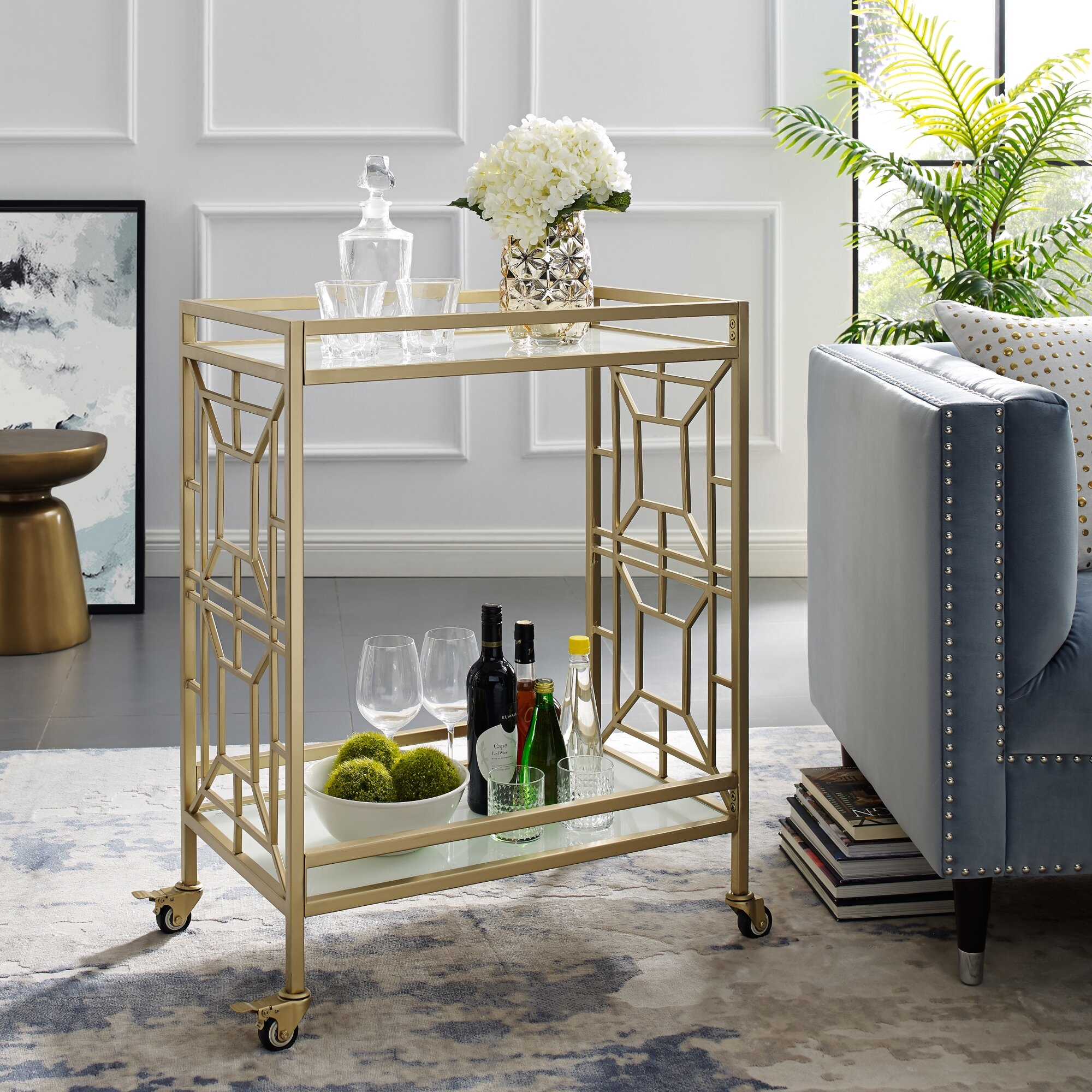 Everly Quinn Jaxen Bar Cart Reviews Wayfair