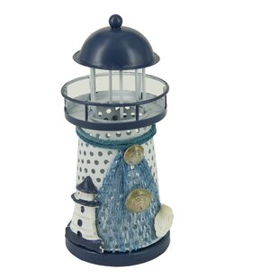 Attraction Design Home Nautical Anchor Metal Vintage Openwork Ocean Lighthouse Color Changing LED Lantern Night Light
