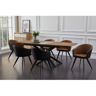 Denzel Extendable Dining Set With 6 Chairs (Set Of 7) By George Oliver
