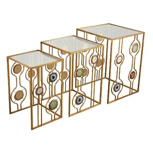 Willa Arlo Interiors Celestyna 3 Piece Nesting Tables