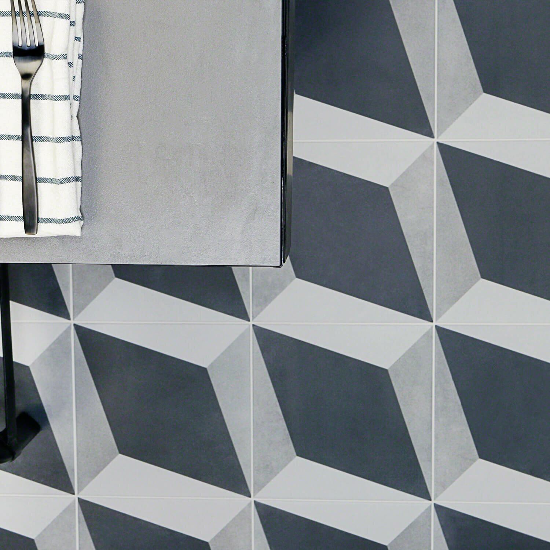 Ivy Hill Tile Sintra Block 9 X 9 Porcelain Field Tile In Matte Black Gray Wayfair