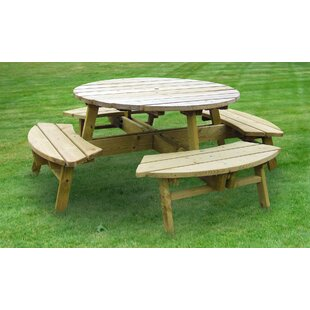 Dracut Wooden Picnic Bench By Sol 72 Outdoor