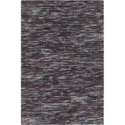 Oana Textured Contemporary Wool Purple