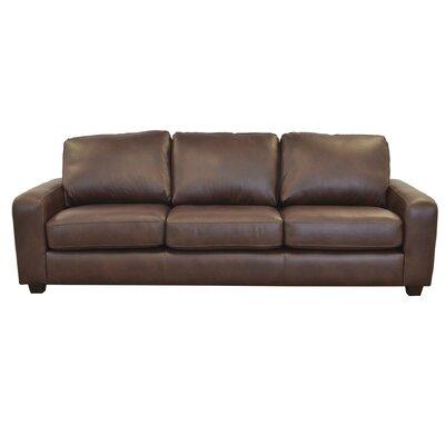 Hanson Leather Sofa Westland And Birch Upholstery Berkshire Dark Brown
