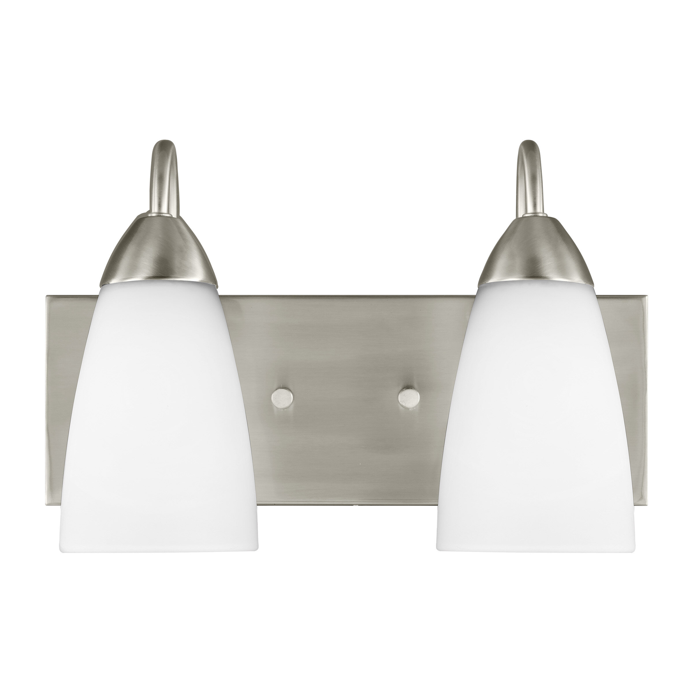 Ainsdale 2 Light Dimmable Brushed Nickel Vanity Light Reviews Joss Main