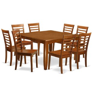 Parfait 9 Piece Dining Set by Wooden Importers 2019 Online