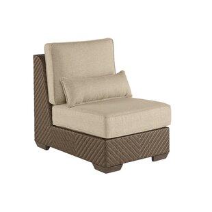 Gracie Oaks Astrid Wicker Patio Chair with Cushion