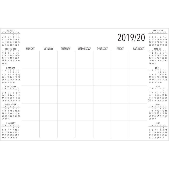 Calendrier One Piece 2020.Academic 2019 2020 Calendar And Organizer Decal