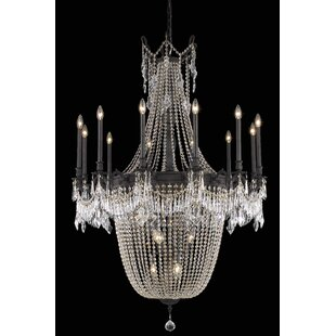 Ursula 22-Light Chain Empire Chandelier by Astoria Grand