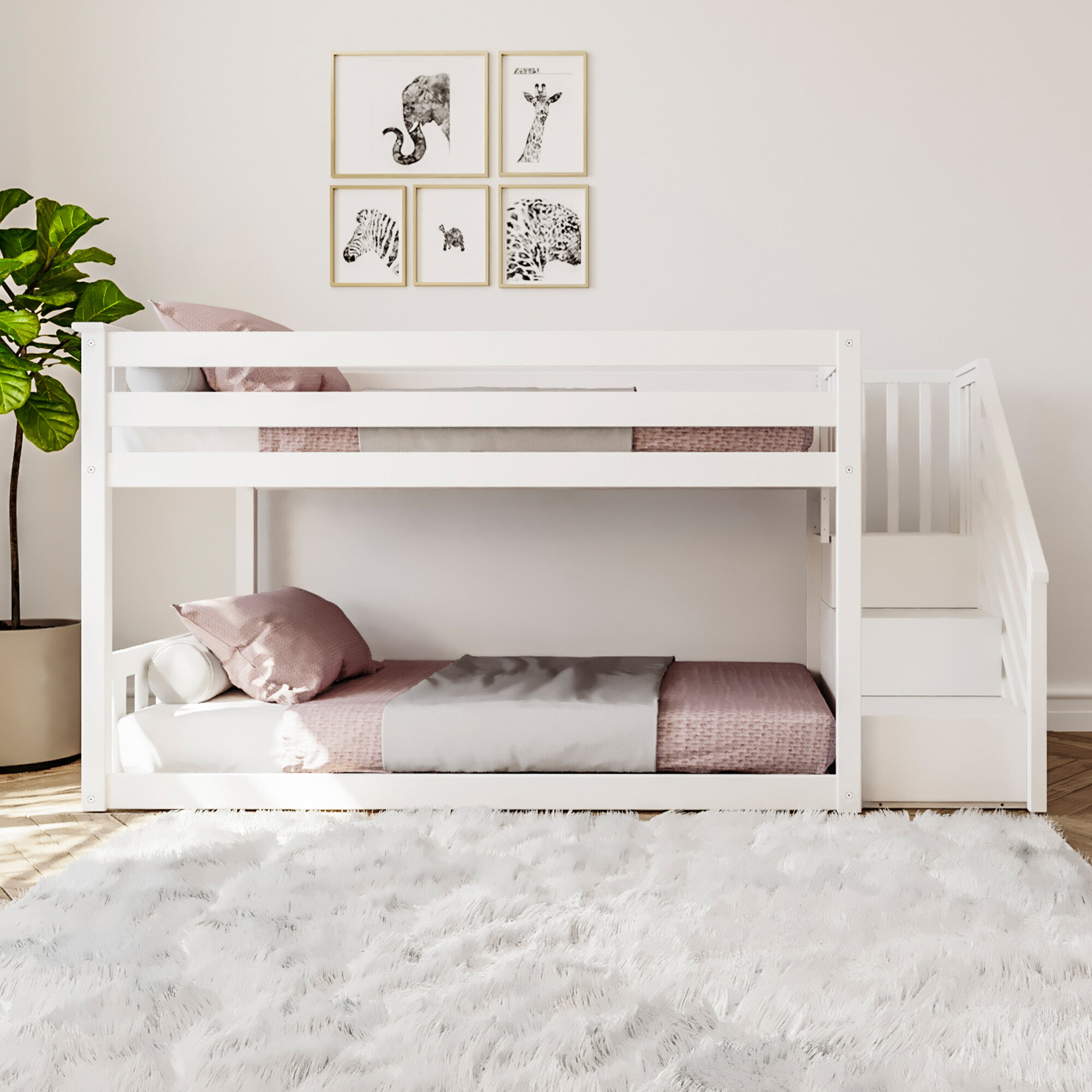 Twin Bed Space Saver Interior Design Ideas