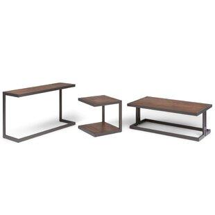 Mercury Row Higuera 3 Piece Coffee Table Set
