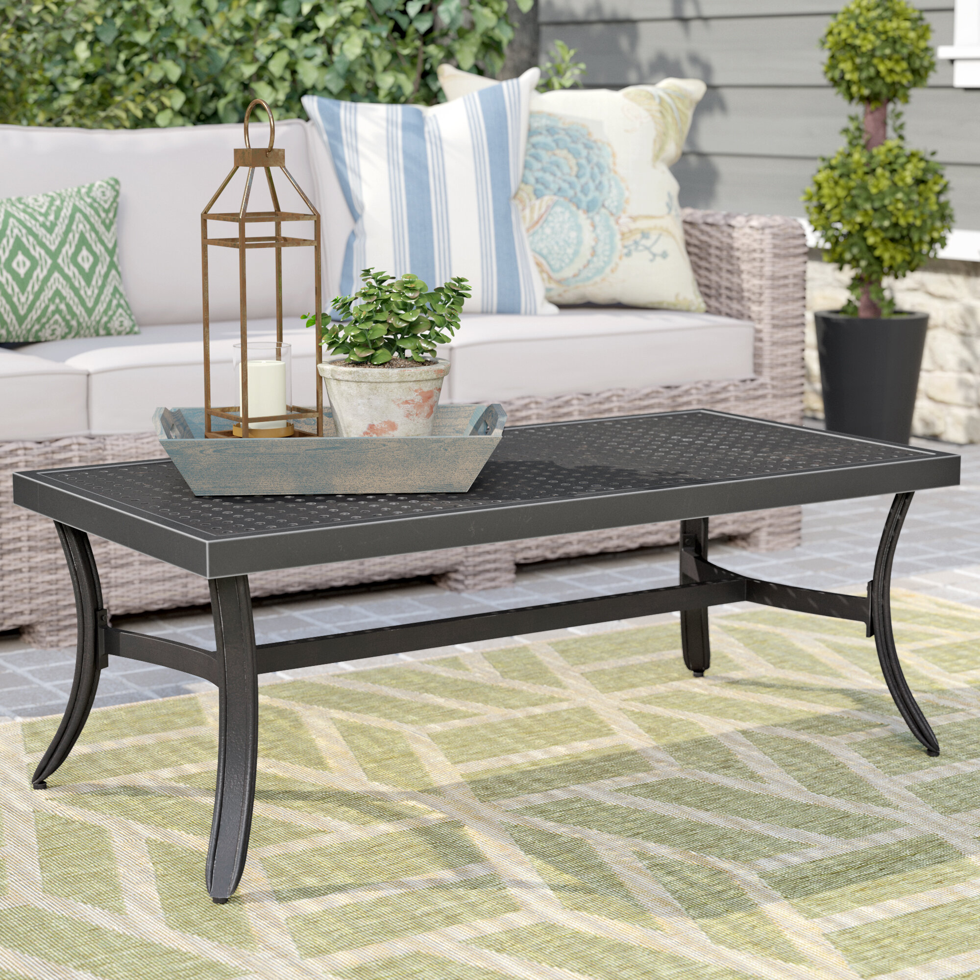 Darby Home Co Dominque Metal Coffee Table Reviews Wayfair