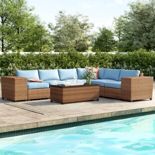 Waterbury 9 Piece Sectional Seating Group With Cushions by Sol 72 Outdoor New Design
