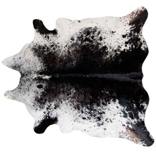 Bullis Speckled Hand Woven Cowhide Black/White Area Rug ByUnion Rustic