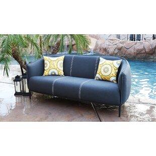 Carmelo Outdoor Patio Sofa with Sunbrella Cushions by Brayden Studio