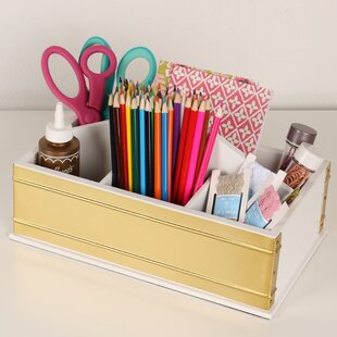 Kate and Laurel Industrious Desktop Office Supply Caddy Organizer