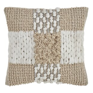 Warriner Down Filled Cross Design Moroccan Throw Pillow