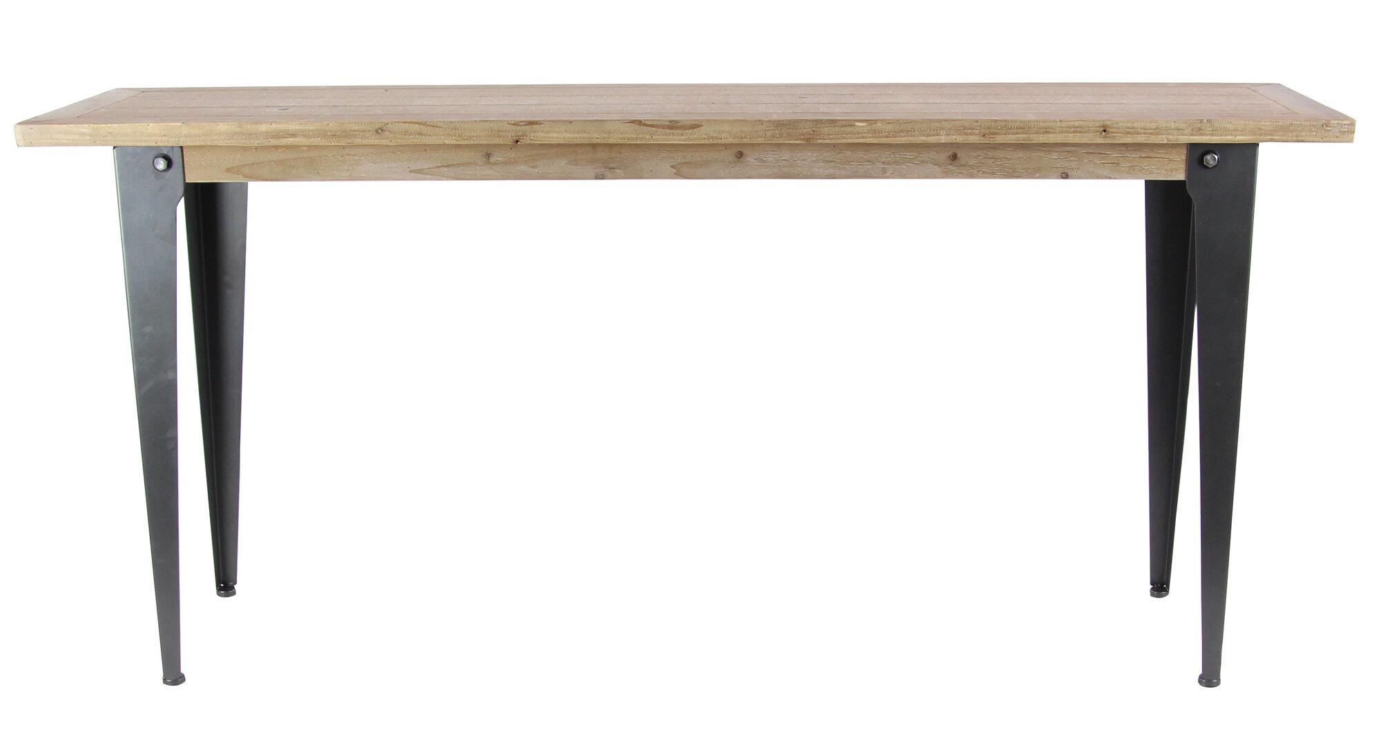 Williston forge laffoon rustic console table wayfair