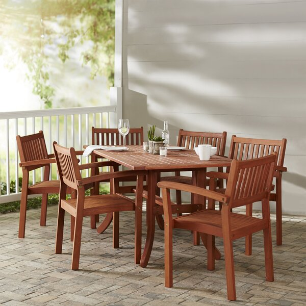 Beachcrest Home Monterry 7 Piece Patio Dining Set & Reviews by Beachcrest Home