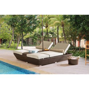 Adelson Double Chaise Lounge with Cushions