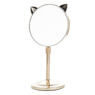 Zoomie Kids Kowalsky Cat Ear Extendable Makeup/Shaving Mirror