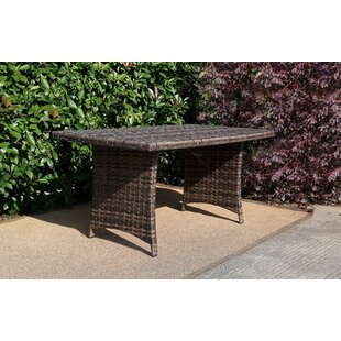 Davian Patio Rattan Dining Table