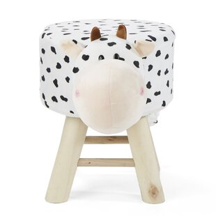 Children's Favorite Cow Animal Kid Stool and Ottoman ByMind Reader