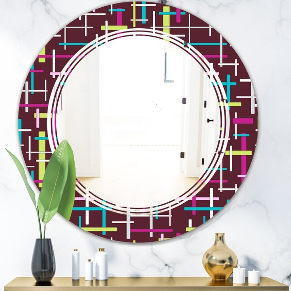 East Urban Home Triple C Abstract Design Xvii Modern Frameless Wall Mirror Wayfair