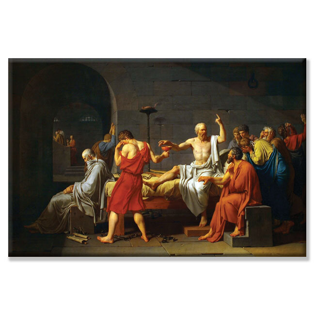 Buyenlarge Death Of Socrates Painting Print On Wrapped Canvas Wayfair Ca