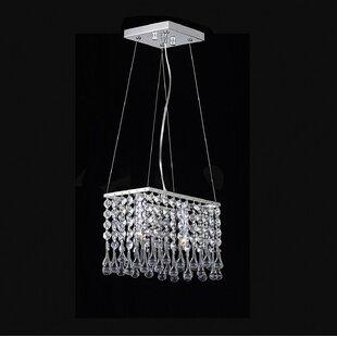 Huckabee Mini 2-Light Crystal Pendant by Orren Ellis