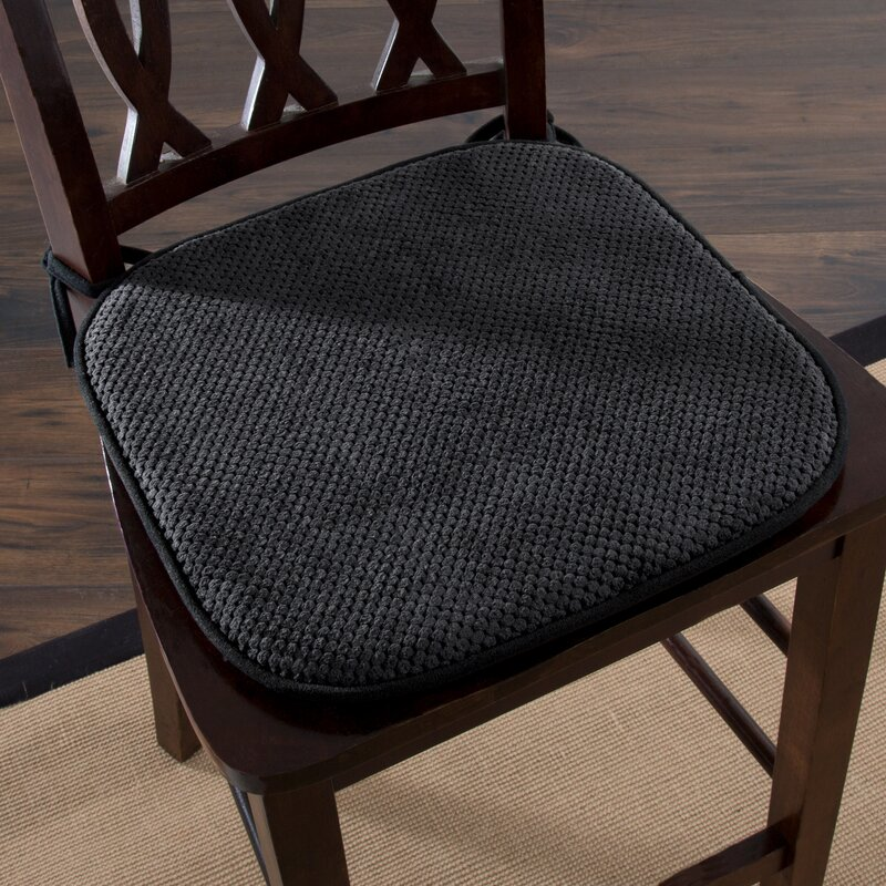 Andover Mills Memory Foam Pad Indoor Dining Chair Cushion Reviews Wayfair