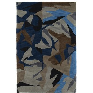 Charlayne Hand Tufted Blue/Brown Area Rug