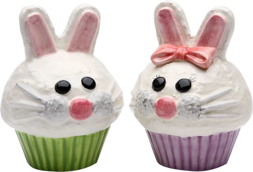 Bunny Cupcake Salt & Pepper Set