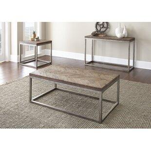 Kenton 3 Piece Coffee Table Set