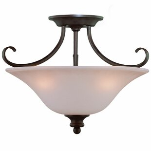 Charlemont 3-Light Semi Flush Mount by Fleur De Lis Living