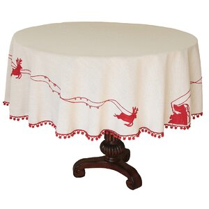 Holiday Santa's Sleigh Tablecloth