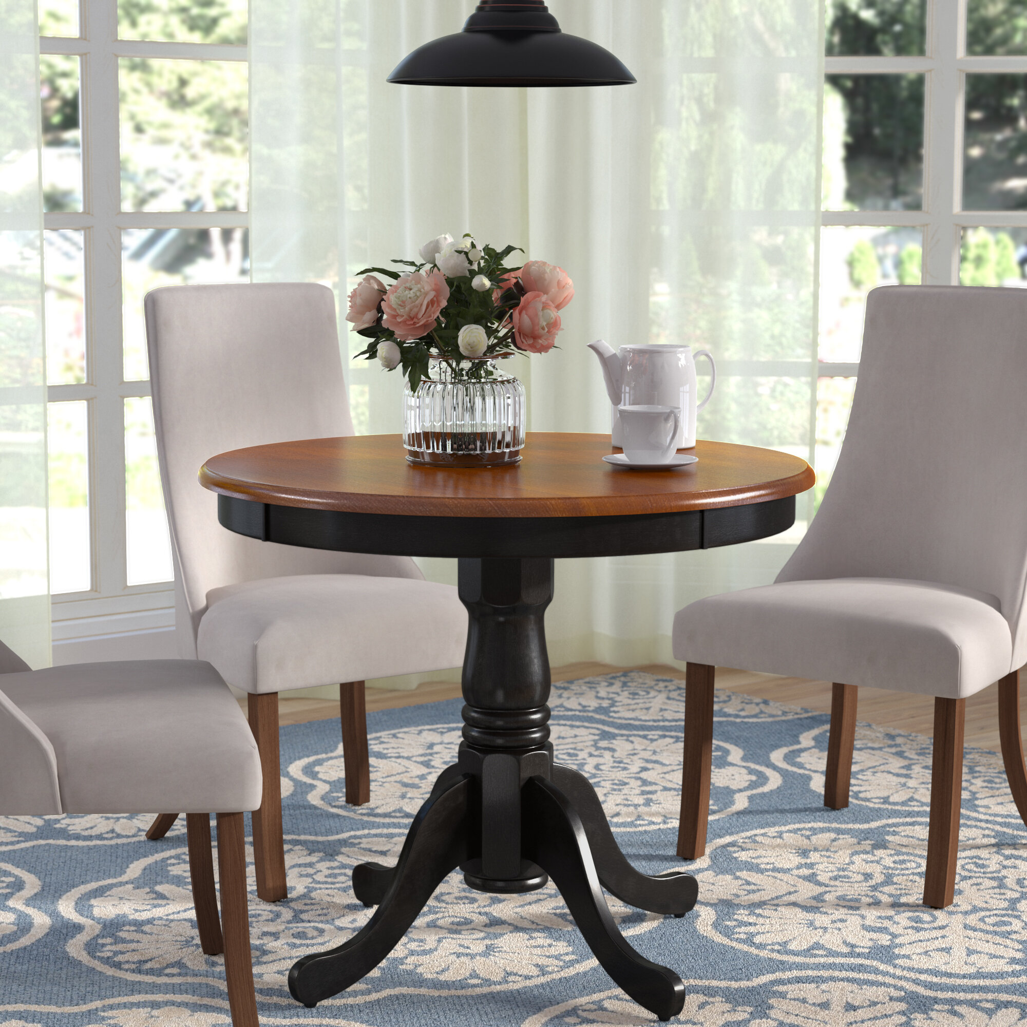 Andover Mills Nantucket Rubberwood Solid Wood Dining Table Reviews Wayfair