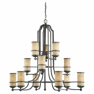 Darby Home Co Bale 12-Light Shaded Chandelier