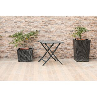 Mosier Outdoor Folding Metal Side Table