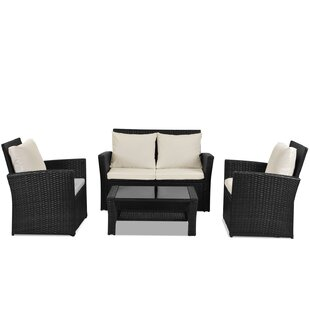 Cajuste 4 Seater Rattan Sofa Set By Sol 72 Outdoor