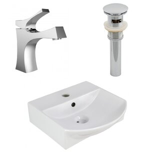 Check Prices Ceramic 13.75 Bathroom Sink with Faucet By Royal Purple Bath Kitchen