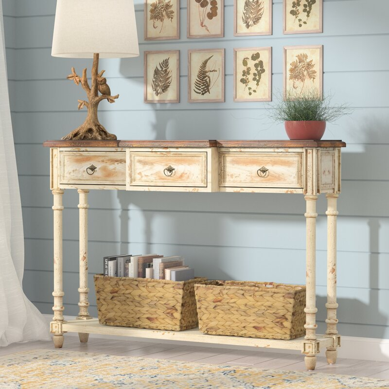 Preusser 3 Drawer Console Table