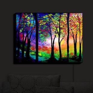Buy luxury Autumn Eve II Trees' Print on Fabric By East Urban Home